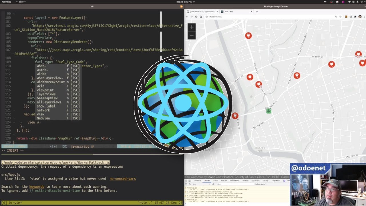 ArcGIS ESM with create-react-app