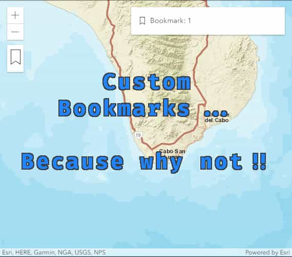 Custom bookmarks in your ArcGIS JS API apps